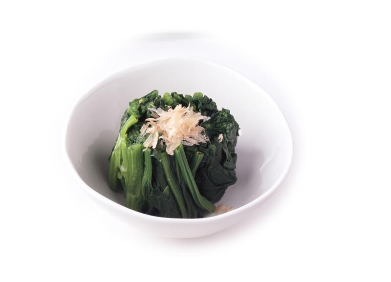 ほうれん草のお浸し うずら豆の煮豆大根と人参のなますほうれん草のお浸し野菜の浅漬けコンソメスープ